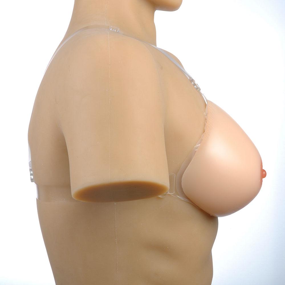 Post mastectomy breast prosthesis asymmetrique light skin color