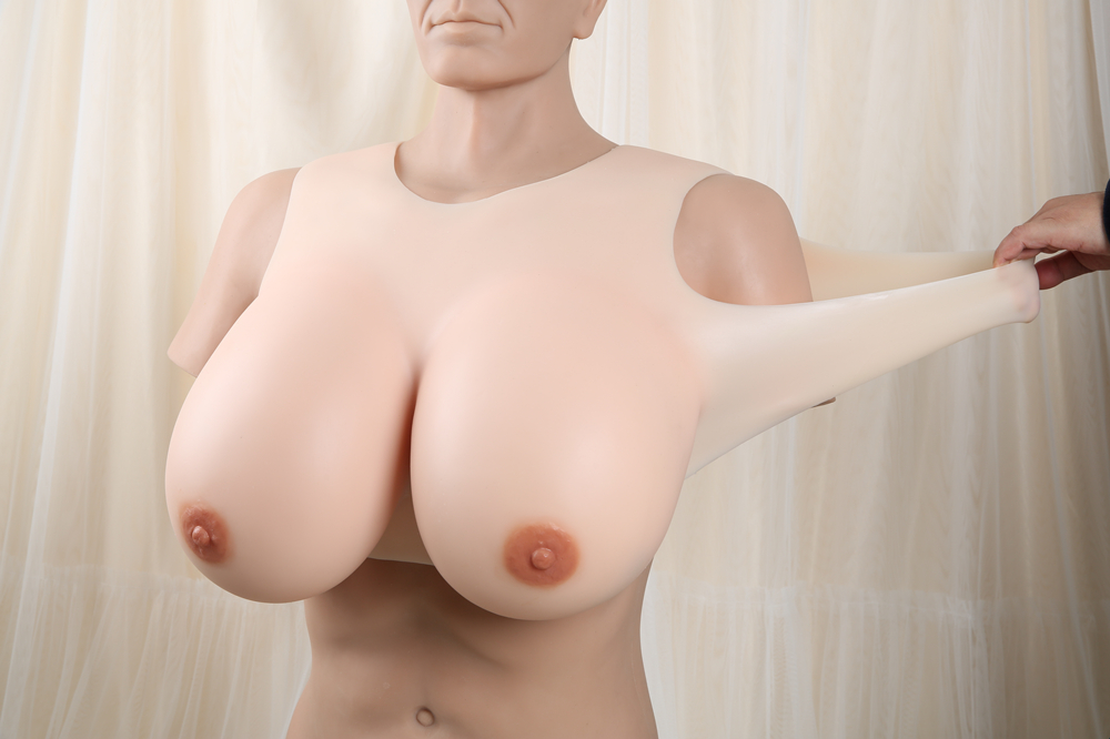 Kcup Light coloredbiggest silicone fake breasts IVITA