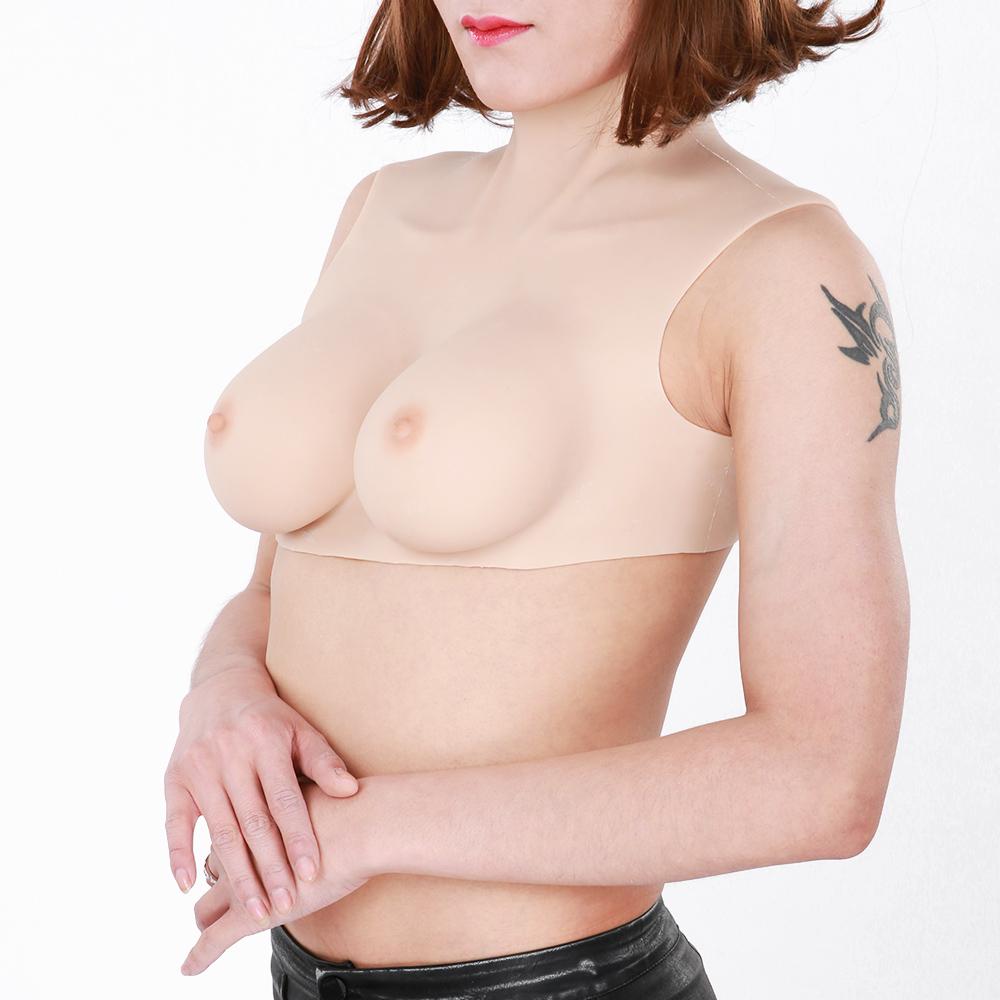 affordable 100% Silicone breastplate for crossdresser transgender