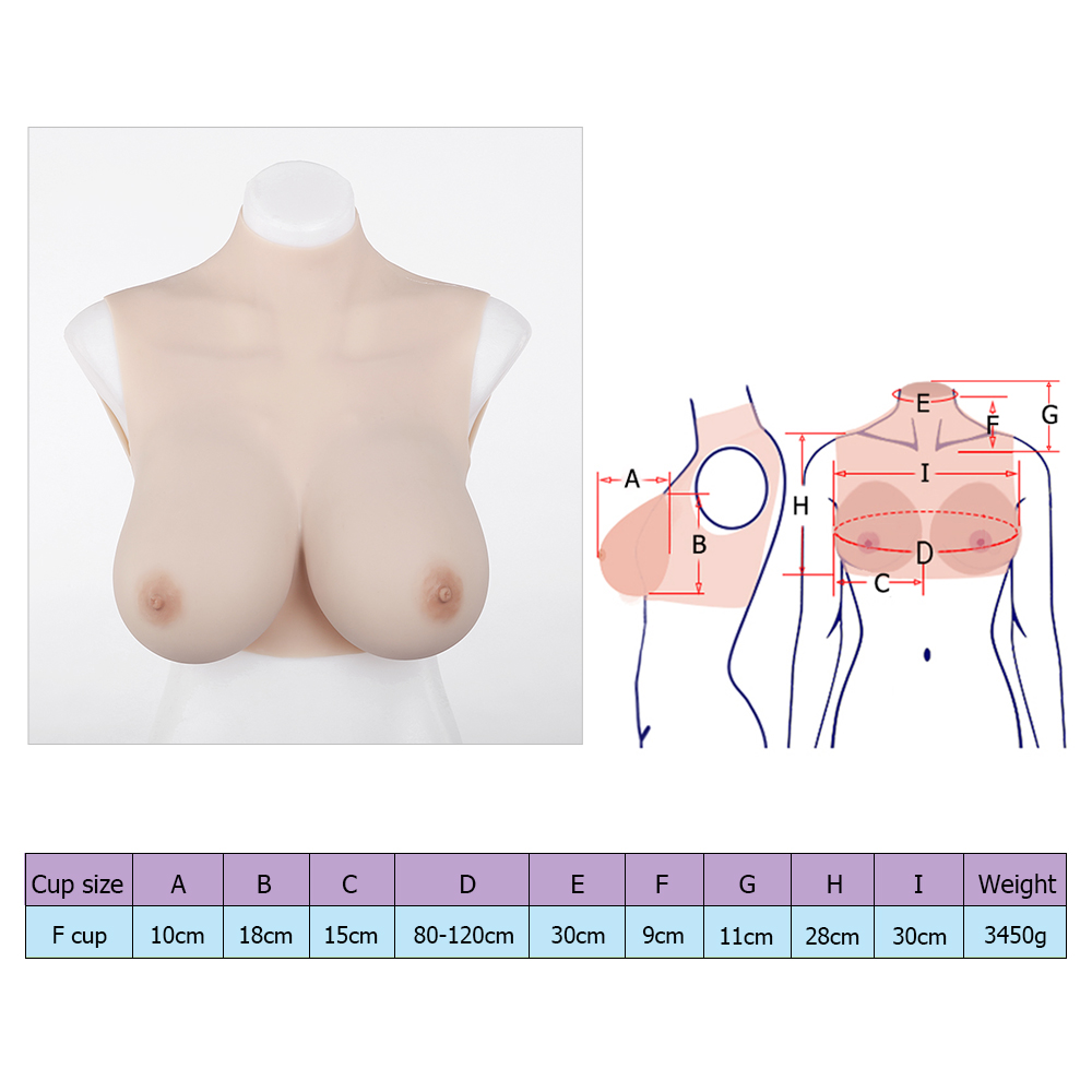 Affordable F-cup silicone breast forms sissy