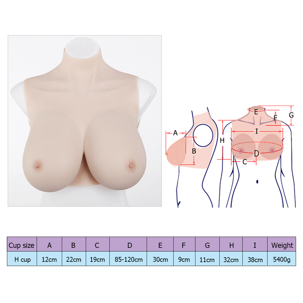 H-cup silicone breasts forms cheap low price