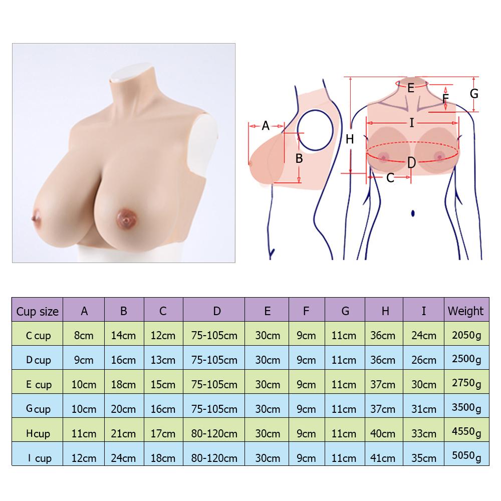 Crossdresser silicone breast forms