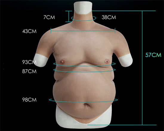 Fat Belly Beer Belly Silicone Cosplay