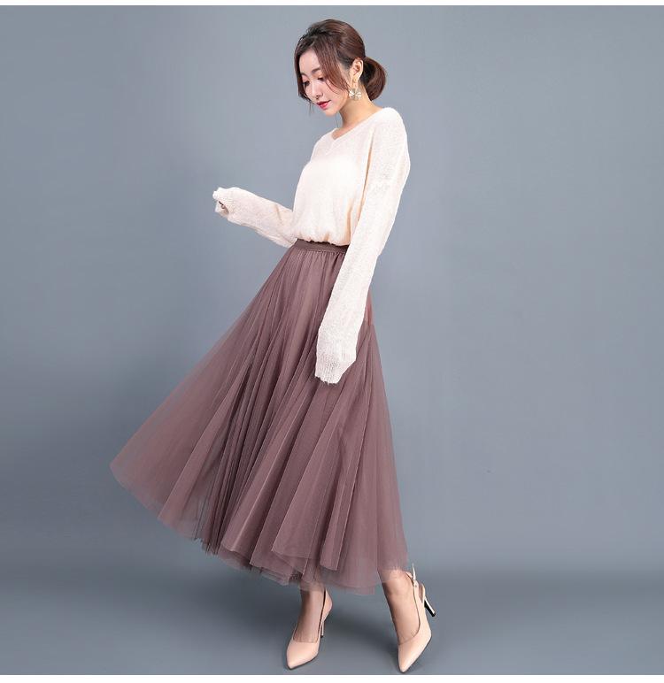 Cheap Tulle long skirt