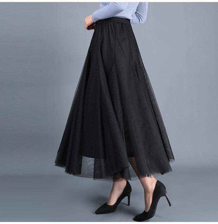 musthaves black tulle skirt