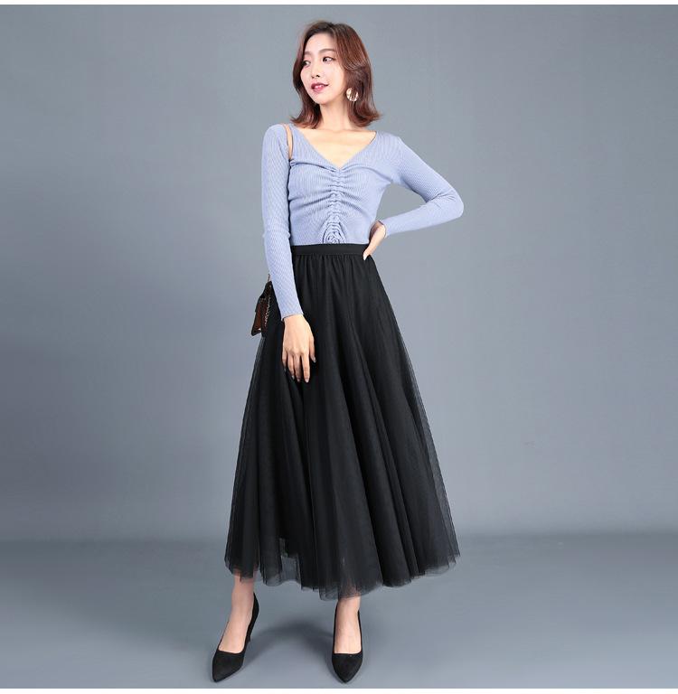 cheap long black skirt