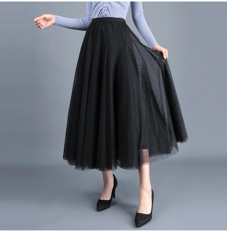 cheap long black tulle skirt for trans people