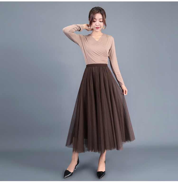 Coffee color tulle skirt