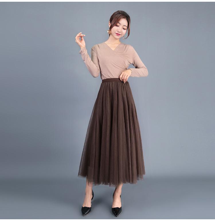 brown tulle skirt