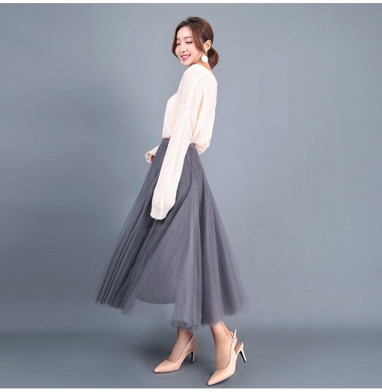 Stylish grey flowy skirt