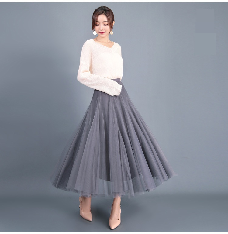 Cheap grey flowy skirt