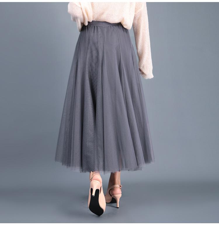 Stylish grey skirt