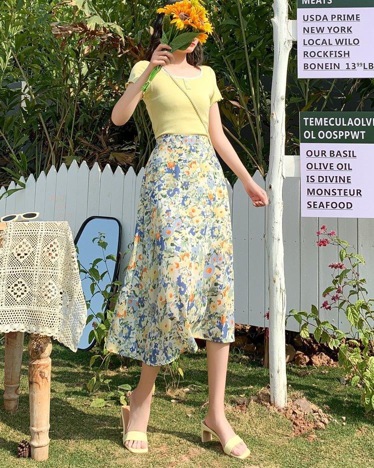 floral skirt for trans women drag