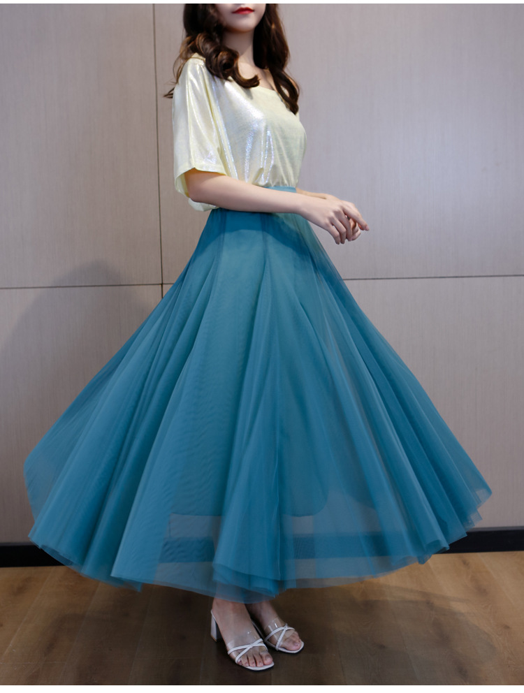 Comfortable flowing tulle skirt