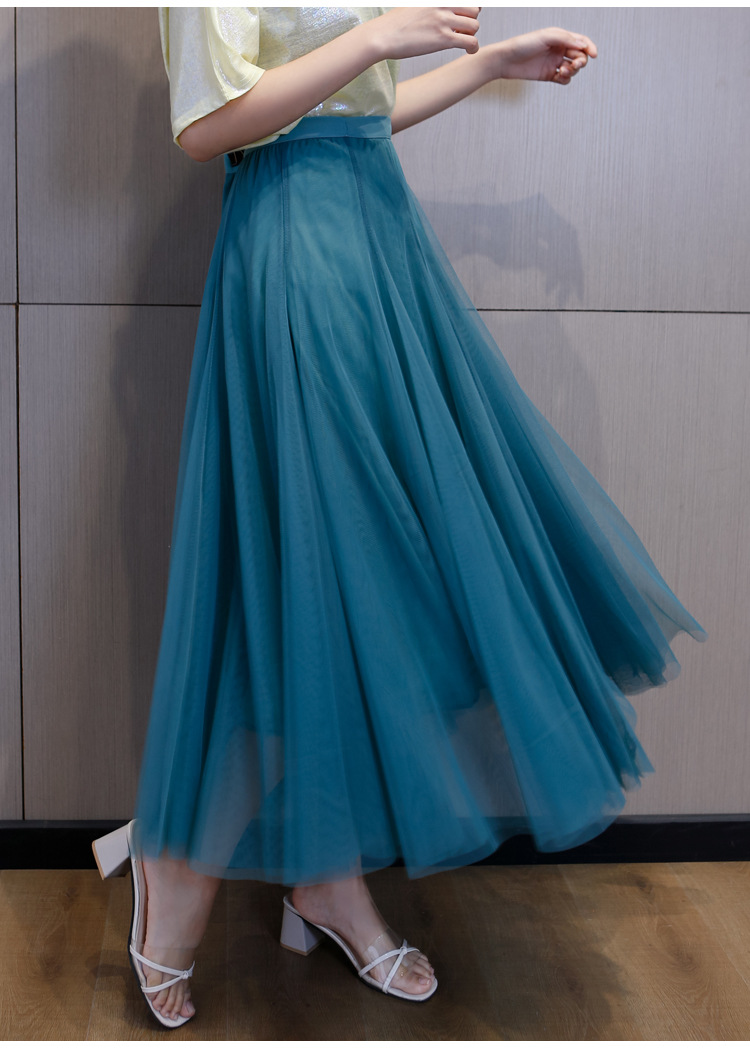 Stylish flowing tulle skirt