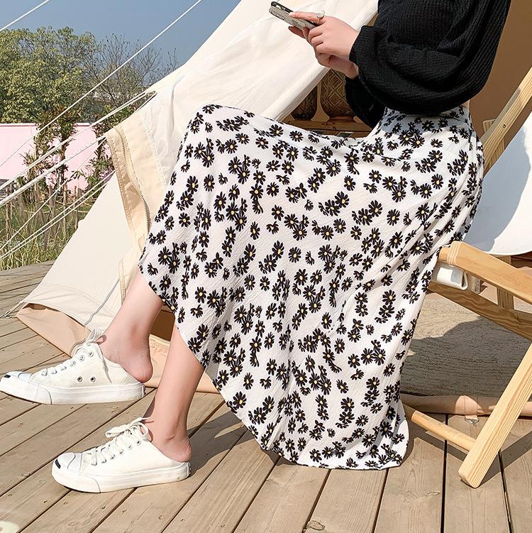Cheap chiffon daisy skirt