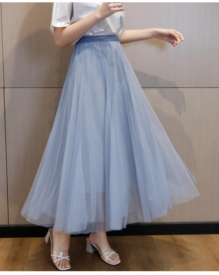 cheap light blue tulle skirt for Tgirl
