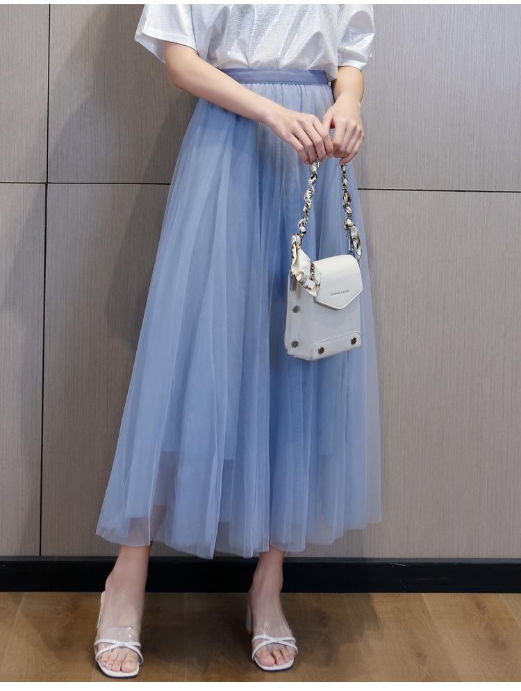 Sky blue tulle skirt inexpensive