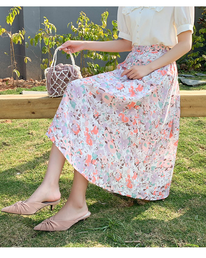 vacation floral skirt drag