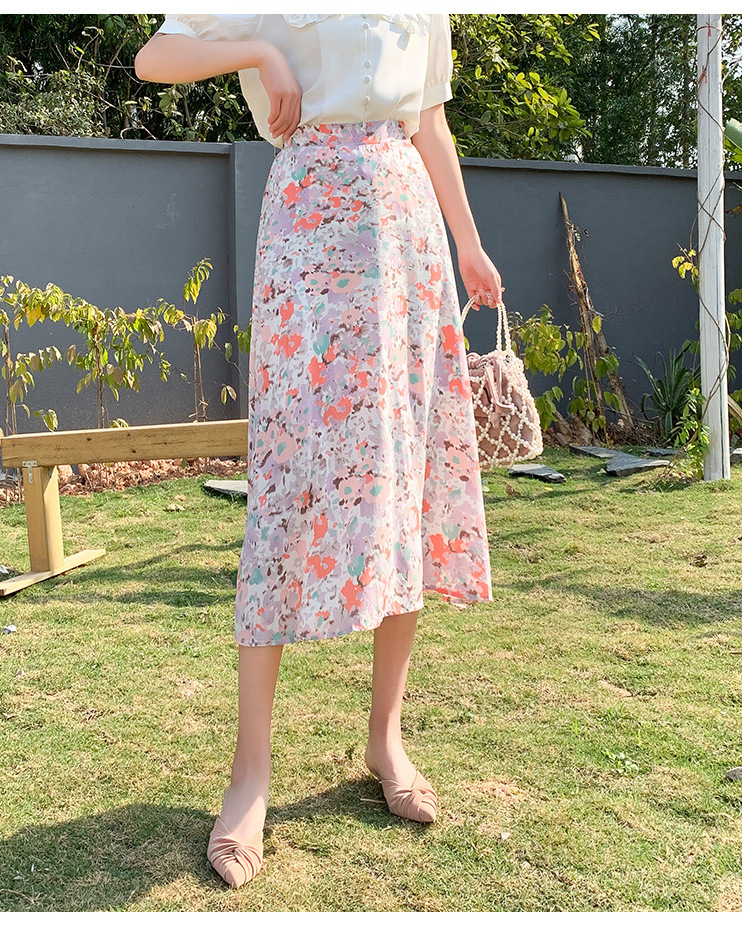 cute vacation floral skirt