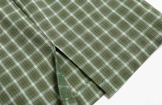Front Slit Plaid Skirt