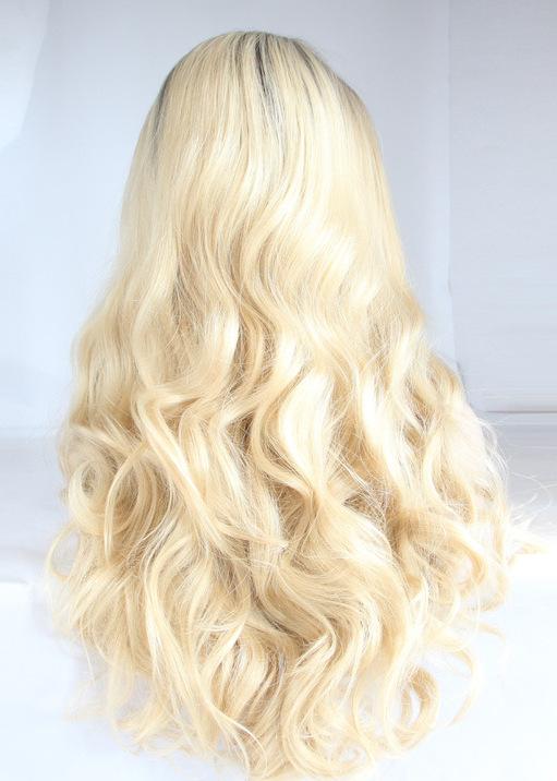 Blonde Wavy front lace Long Wigs