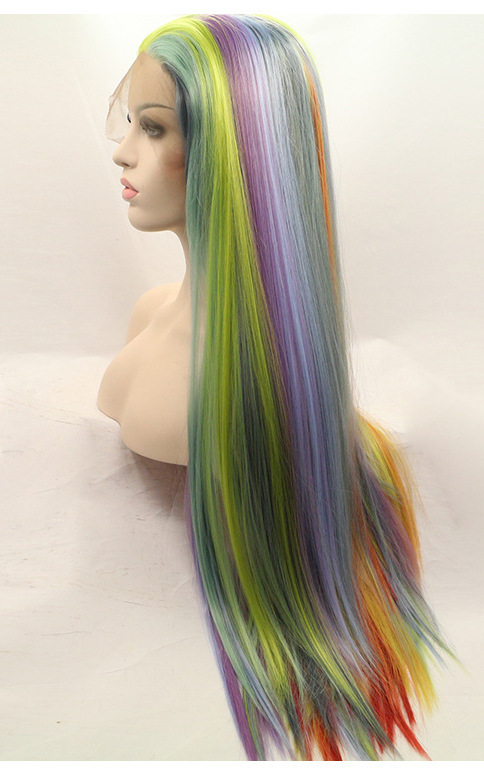 lgbt rainbow flag wigs front lace cheap