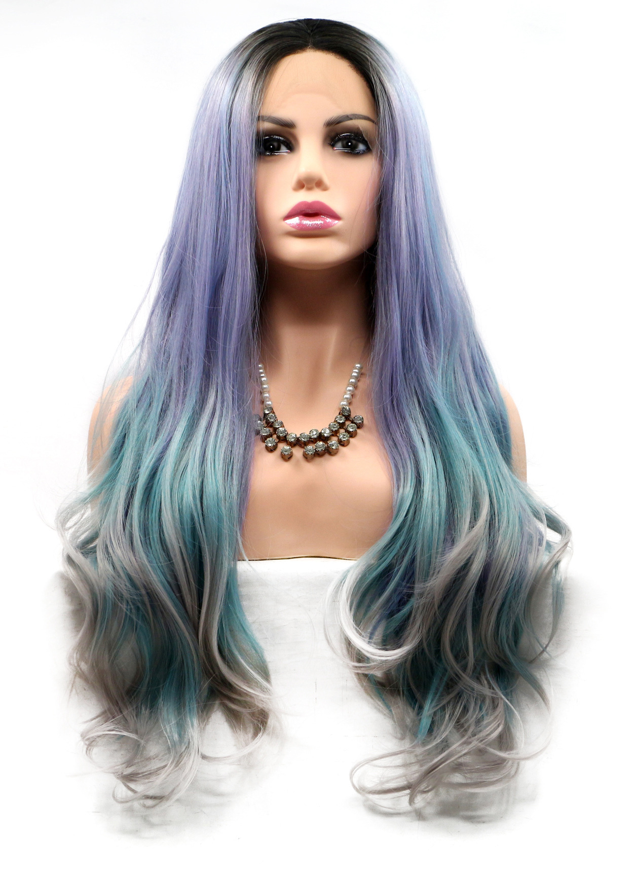 affordable front lace colorful straight wigs