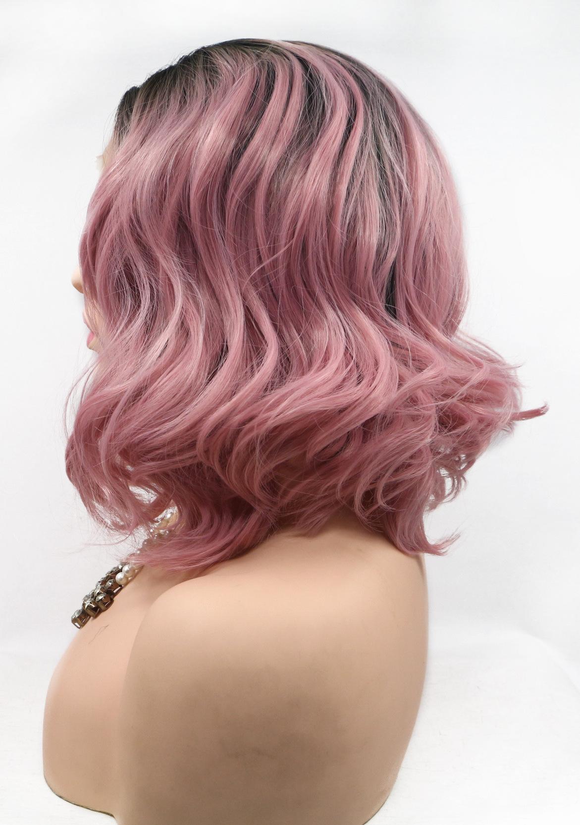 /Light color lace front wavy medium lace wigs