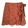 Red Wrap Skirt