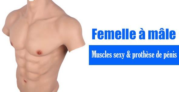 Muscles sexy & prothèse de pénis